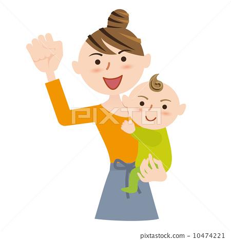 图库插图: 育儿 矢量 握拳