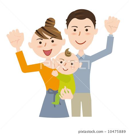图库插图: 矢量 握拳 父母身份