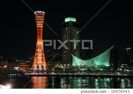 神户 夜景 港口瞭望塔-图库照片 [10476543] - pixta