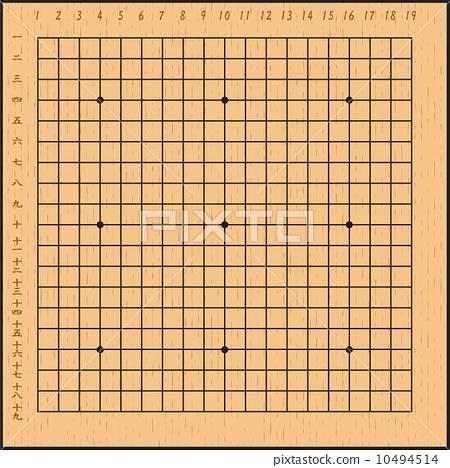 质地 树 木纹 围棋盘 木纹 华丽的纹理  pixta限定素材      围棋盘