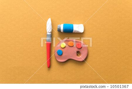 图库照片: 粘土工作 用粘土做东西 泥塑艺术