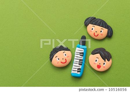 儿童 口风琴 橡皮泥