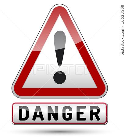 插图素材: exclamation mark danger triangle