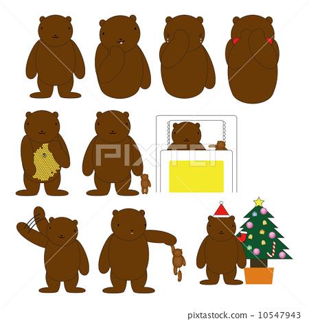 果酱小房子熊提着蜂蜜桶简笔画
