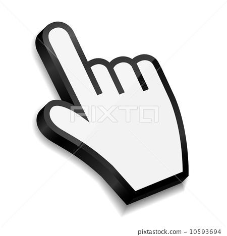 手指 图标 stock 插图