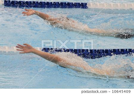 卡通仰泳矢量图