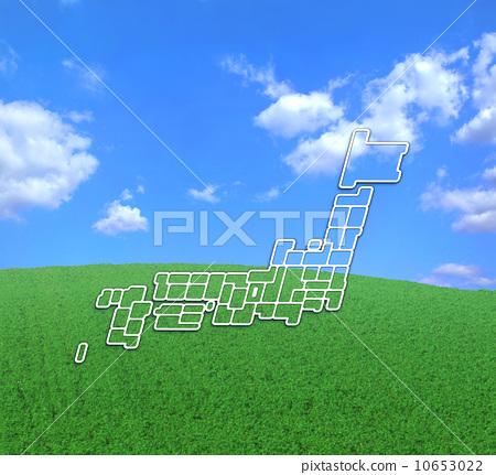 日本地图 轮廓图 空白地图