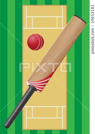 stock illustration: criket sport game
