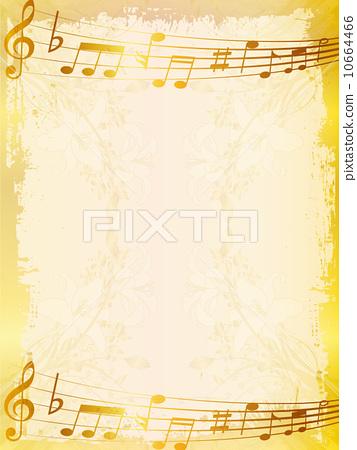 插图 矢量图 音乐 背景 笔记