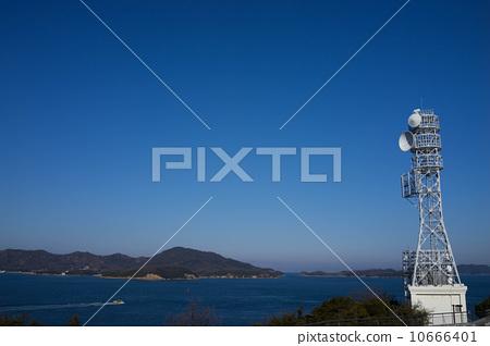 天线杆 无线电塔 海事的