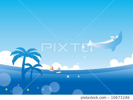 图库插图: 棕榈树 矢量 海洋