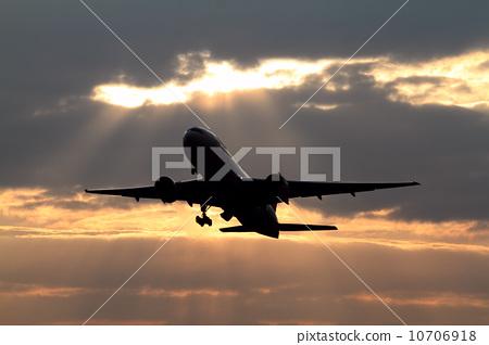 飞机 剪影 喷气式飞机