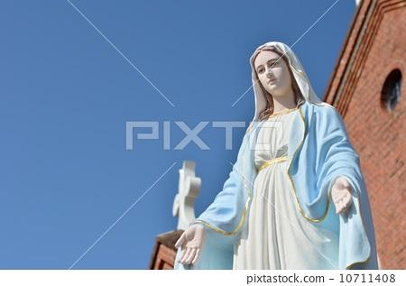 图库照片: 圣母玛利亚 被保佑的圣母玛利亚 玛丽