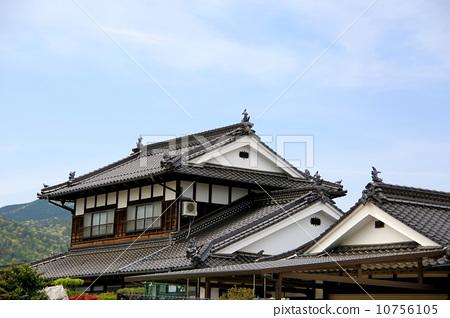 业种_产业 土木 建筑业 日本传统建筑 日式房屋 平铺  *pixta限定素材