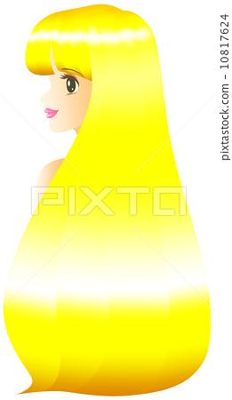 画简单长头发女人分享展示