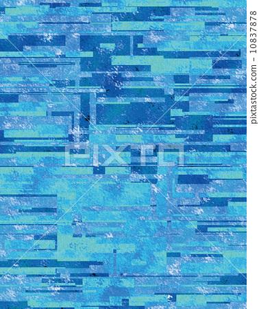 插图 质地 水 冰 四边形 抽象 背景  *pixta限定素材仅在pixta网站,或