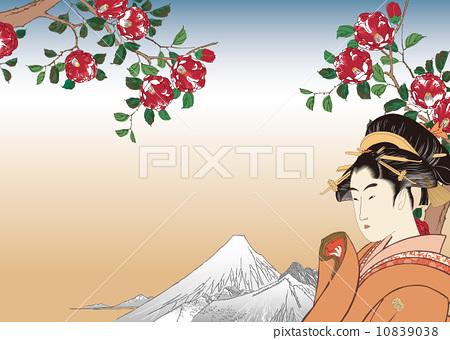 富士山 浮世绘 日本画