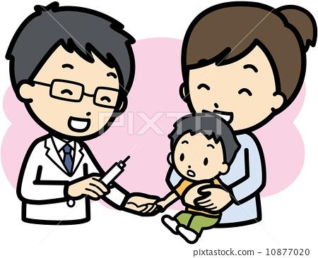 图库插图: 疫苗 矢量 医生