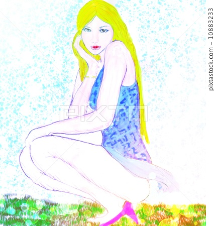 插图素材: 洋装 连衣裙 晚礼服