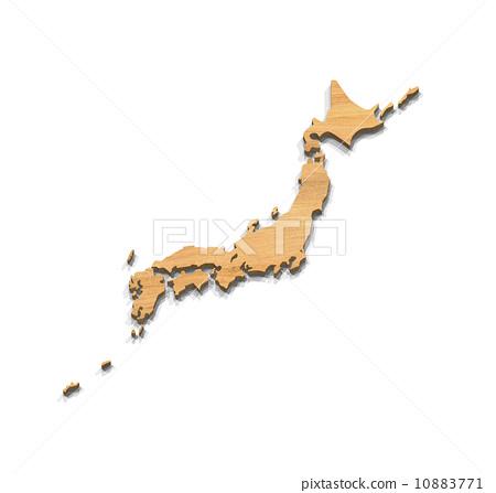 木纹 轮廓图 空白地图