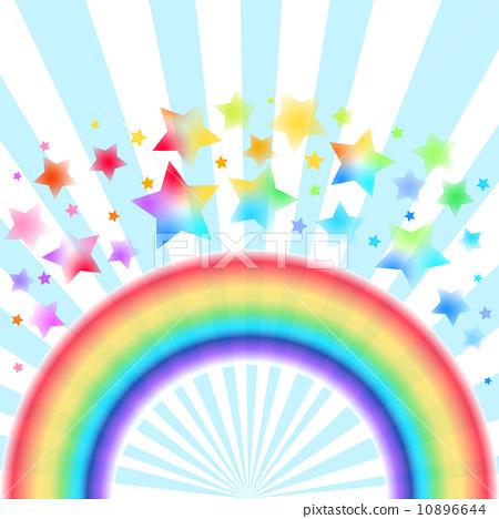 图库插图: 矢量 彩虹 星星