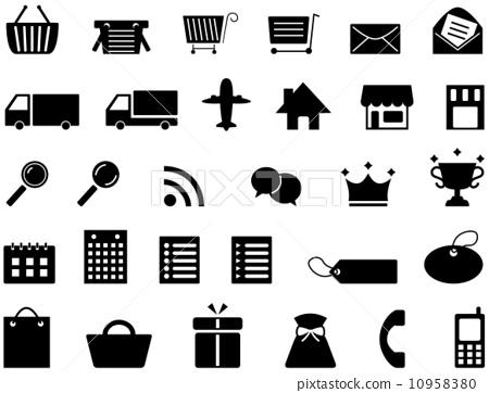 图库插图: 矢量 购物 图标