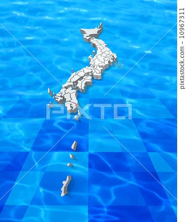 日本地图 都道府县 轮廓图