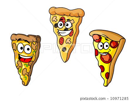 披萨卡通图案