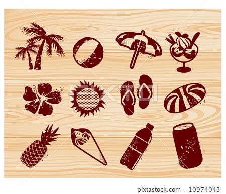 椰子树 沙滩凉鞋 图片