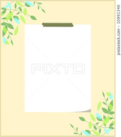 ppt 背景 背景图片 边框 模板 设计 相框 纸本便签 398_450