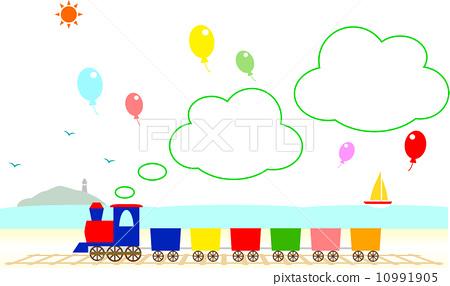 插图素材: 火车 矢量 蒸汽火车