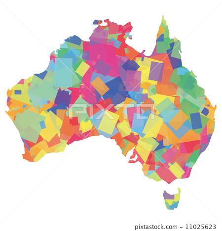 澳大利亚人 澳大利亚 地图