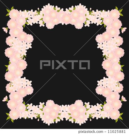 樱花 边框 樱桃树