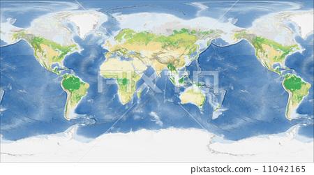 世界地图 地图 全球-插图素材 [11042165] - pixta图库