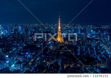 夜景 东京塔 东京铁塔