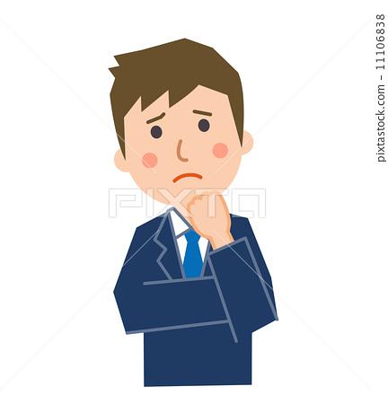 图库插图: 办公室员工困扰的姿势图片