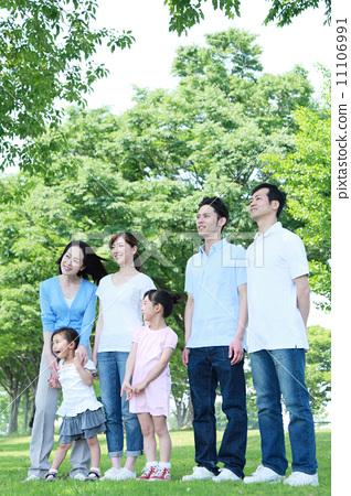 家庭 三代人 人类