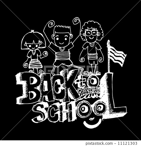 back to school简笔画