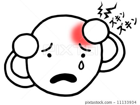 插图素材: 偏头痛 头疼 头痛