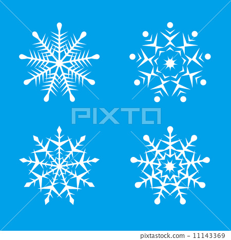 图库插图: 雪花 矢量图 水晶