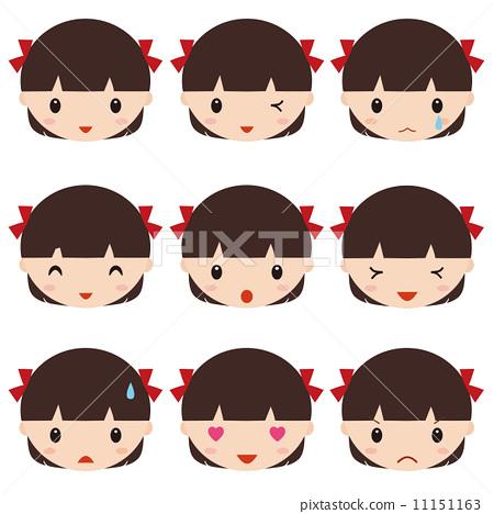 插图素材: 图标 icon 人脸