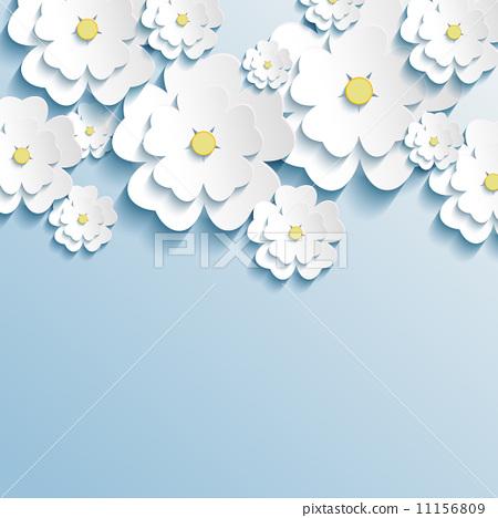 樱花形状矢量图