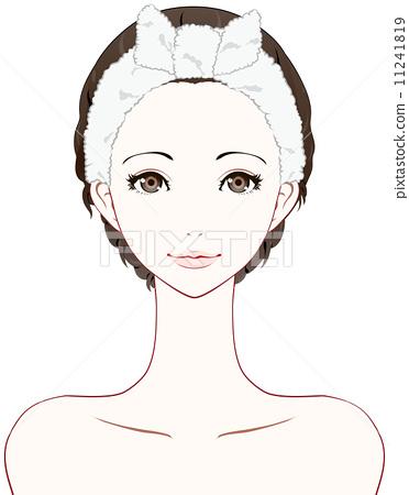 美容面部矢量图