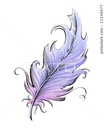 羽毛笔 插图