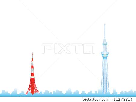 天线杆 无线电塔 东京铁塔