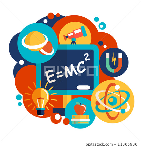 图库插图: physics science flat design图片