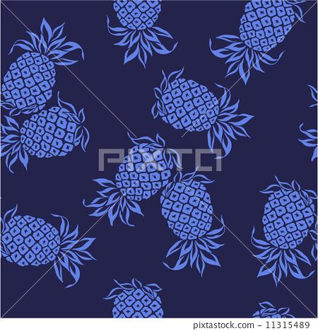 图库插图: 菠萝图案