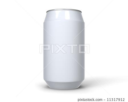 白色背景 空罐子 罐子