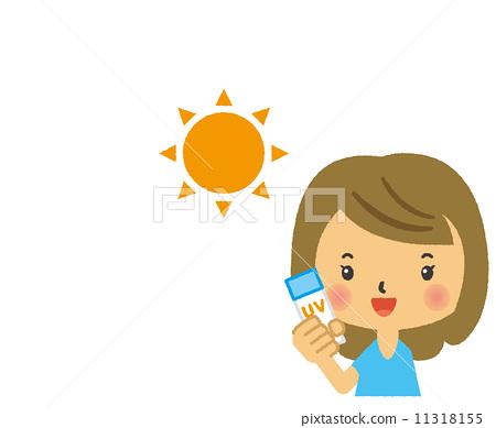 插图素材: 防晒油 防晒霜 护肤
