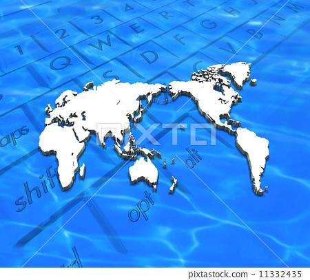 世界地图 轮廓图 空白地图